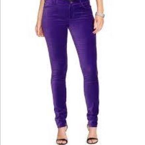 Lauren Ralph Lauren Purple Velour Pants